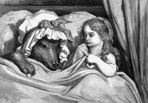 """""""Caperucita Roja"""", grabado de Gustave Doré"""