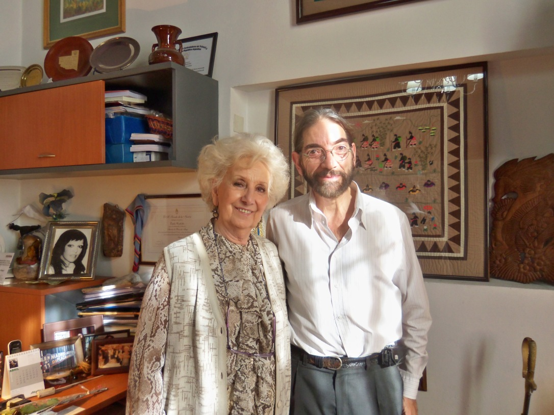 Estela de Carlotto junto a Carlos Marianidis