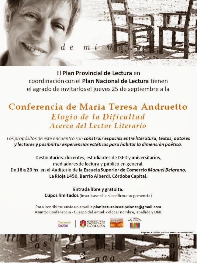 AFICHE MARÍA TERESA ANDRUETTO_conferencia